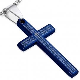 Padre Nuestro Kruis / Blauw SKU84945
