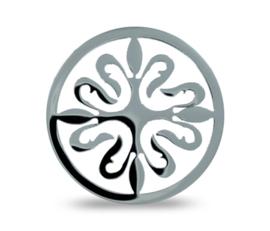 LOCKits Zilverkleurige Opengewerkte Decoratieve Duo Munt 33mm