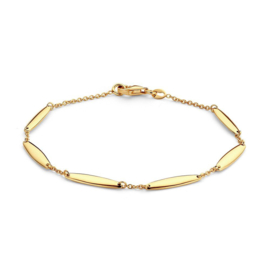Excellent Jewelry Geelgouden Armband met Langwerpige Decoraties