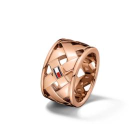Roségoudkleurige Gevlochten Dames Ring van Tommy Hilfiger TJ2701025C