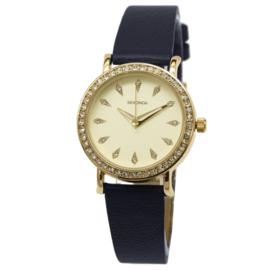 Goudkleurig Dames Horloge van Sekonda met Blauwe Band