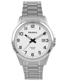 Modern Heren Horloge van Zilverkleurig Titanium met Witte Wijzerplaat