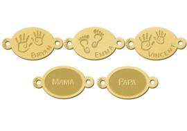 Familie Naamarmband van Goud met Ovale Plaatjes > Names4ever