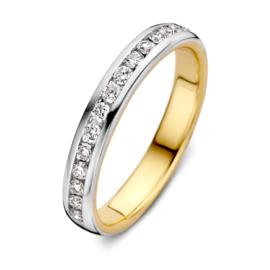 Excellent Jewelry Bicolor Ring met 0,32 crt. Briljanten