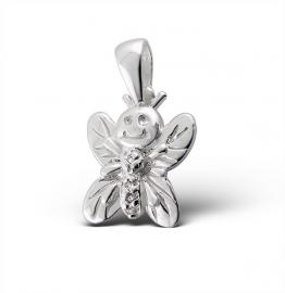 Zilveren Vlinder hanger IB7502