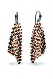 Roségoudkleurige Swarovski Oorhangers van Spark Jewelry