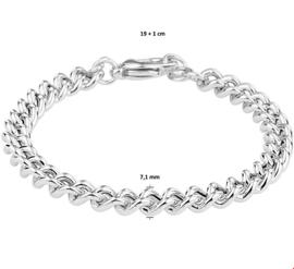 Luxueuze Gourmet Armband van Gerhodineerd Zilver