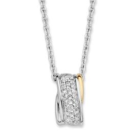 Excellent Jewelry Collier van Zilver met Zirkonia Hanger