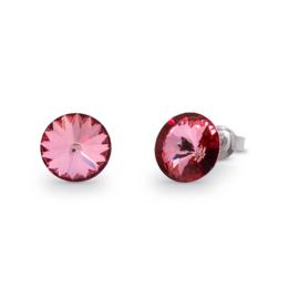 Sweet Candy Oorstekers met Roze Swarovski Kristal
