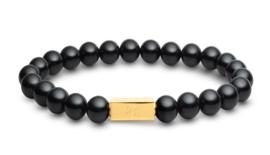 Essential Gold | Obsidiaan Kralen Armband van Blaauw Bloed