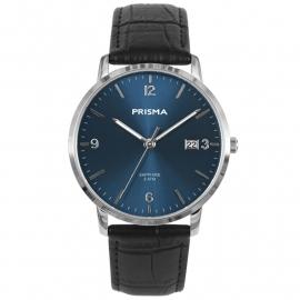 Prisma Heren P.1645 Horloge Edelstaal Saffierglas 5 ATM