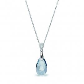 Druppel Blauwe Swarovski Ketting van Spark Jewelry