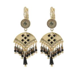 Fashion BIBA Oorhangers met Decoraties en Zwarte Steentjes