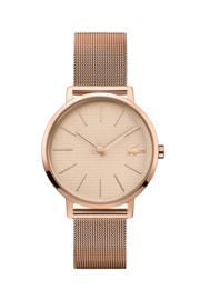 Lacoste Moon Roségoudkleurig Dames Horloge met Roségoudkleurige Wijzerplaat