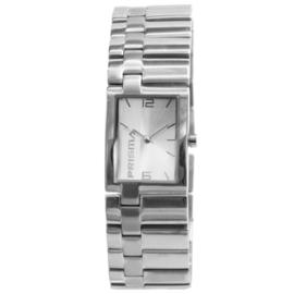 Prisma Slank Rechthoekig Dames Horloge van Edelstaal
