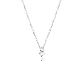 Zilveren Collier met Sleutel
