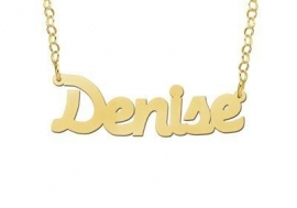 Names4ever Vergulde Denise Naamketting