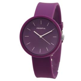 Prisma Basic Paars Dames Horloge met Silicone Horlogeband