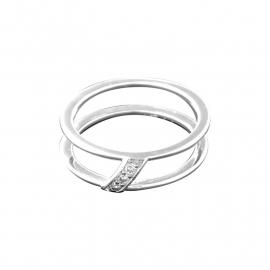 Ring van Zilver met Zirkonia's van MY iMenso