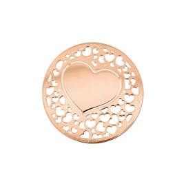 Romantische Roségoudkleurige Hart Munt van MY iMenso