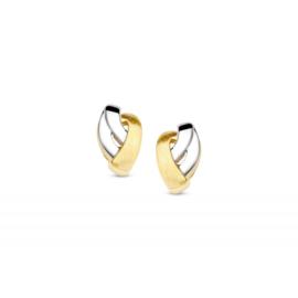 Excellent Jewelry Bicolor Gouden Oorstekers voor Dames
