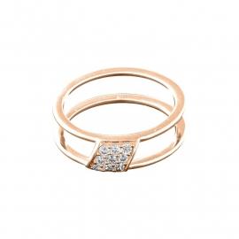 Roségoudkleurige Ring met Negen Zirkonia's van MY iMenso