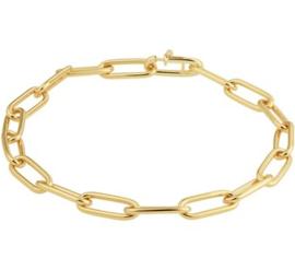 Gouden Dames Armband met Zilveren Kern