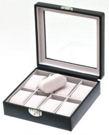 Horlogebox voor 8 horloges / Zwart