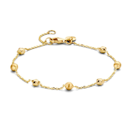 Excellent Jewelry Geelgouden Armband met Decoratieve Bolletjes