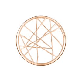 Roségoudkleurige Cover Munt met Doorkruisende Lijnen van MY iMenso