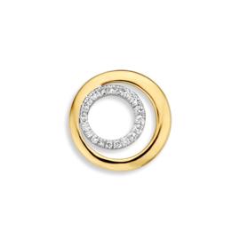 Excellent Jewelry Bicolor Cirkels Hanger met 0,11 crt. Briljanten