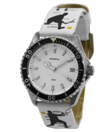 Wit Happy Time Kids Horloge met Witte Wijzerplaat