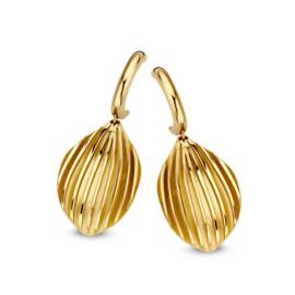 Excellent Jewelry Geelgouden Oorstekers met Bladvormig Element