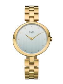Goudkleurig Dames Horloge met Goudkleurige Schakelband van M&M