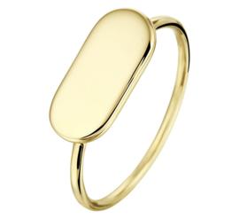 Gouden Dames Zegelring | Kies je eigen naam