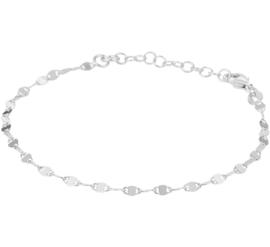Zilveren Anker Armband met Rhodium