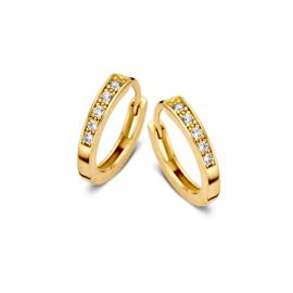 Excellent Jewelry Geelgouden Zirkonia Creolen