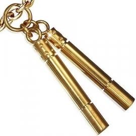 Goudkleurige Fluit Charm / Bedelhanger SKU63669