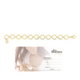 Goudkleurige Armband van Tommy Hilfiger + Cadeaubon t.w.v. € 20,00 | Gift Set
