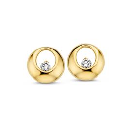 Excellent Jewelry Geelgouden Rondjes Oorstekers met Zirkonia