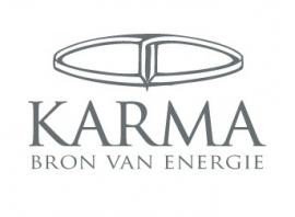 Zilveren Hangende Tube Ketting Oorbellen met Rondje van Karma