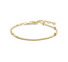 Goudkleurige Armband met Schakels 3,0 mm 16 + 3 cm