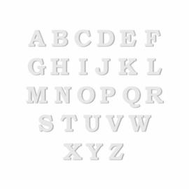 Zilveren Oorknop met Letter naar Keuze