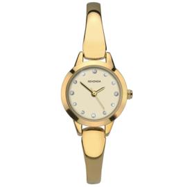 Slank Goudkleurig Sekonda Horloge voor Dames met Sierdiamanten