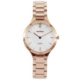 Roségoudkleurig Dames Horloge met Parelmoer Wijzerplaat van Prisma