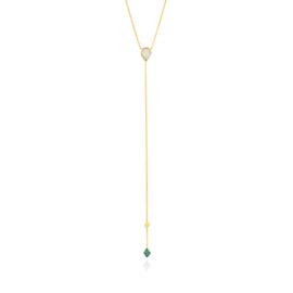 Goudkleurige Turquoise n Opal Colour Y Necklace van Ania Haie
