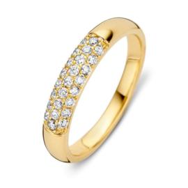 Excellent Jewelry Geelgouden Ring met Kleurloze Briljanten 0,32 crt.