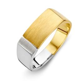 Excellent Jewelry Geelgouden Dames Ring met Witgoud
