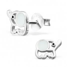 Olifant Zilveren Oorbellen - Kinderoorbellen