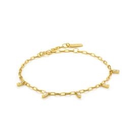 Goudkleurige Glow Drop Bracelet van Ania Haie
